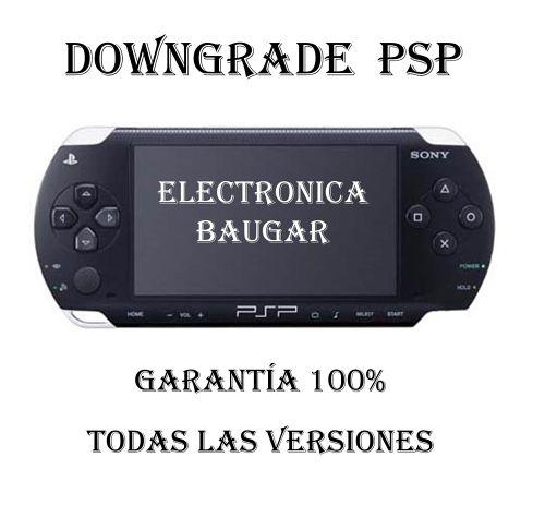 Downgrade PSP Getafe Todas las versiones Baugar