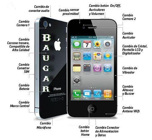Reparación Iphone 4 y 4S  getafe baugar